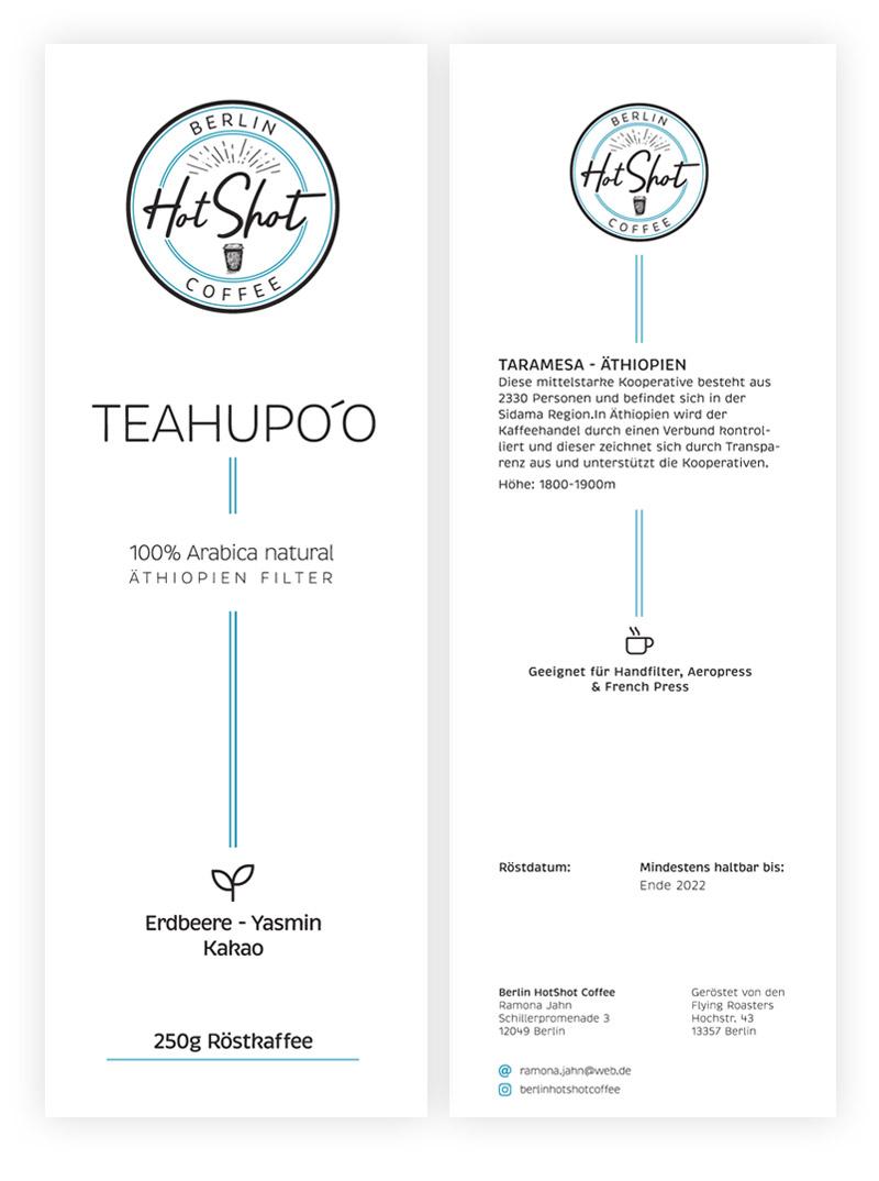 Kaffee Label Berlinhotshot